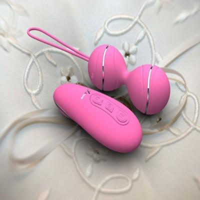 Vibrační kuličky HYMAN remote control růžové