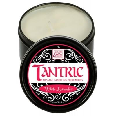 Svíčka masážní TANTRIC s feromony White Lavender