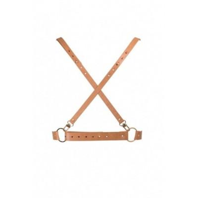 Bijoux Indiscrets kolekce MAZE Postroj ve tvaru X - hnědá