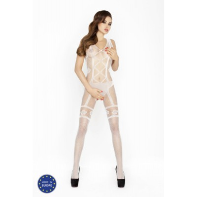 Catsuit PASSION BS018 bílý S-L