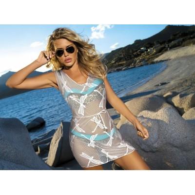 Šaty plážové ETNA GD12 vážka hnědé