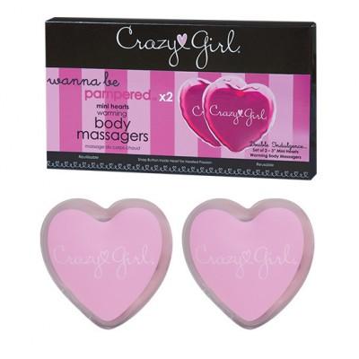 Hřejivá srdíčka CRAZY GIRL MINI Warming Heart Massager 2 ks