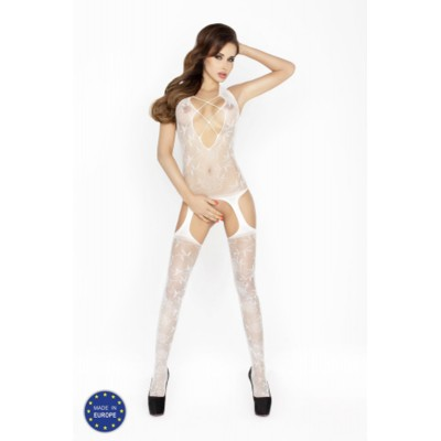 Catsuit PASSION BS017 bílý S-L