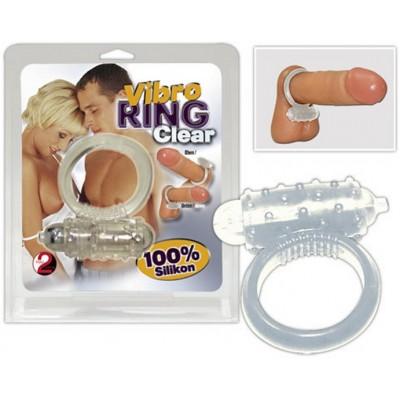 Kroužek na penis vibrační bílý MINI