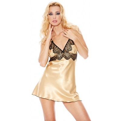 Košilka SATIN DRESS gold