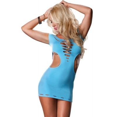 Šaty Mini Dress NEON blue