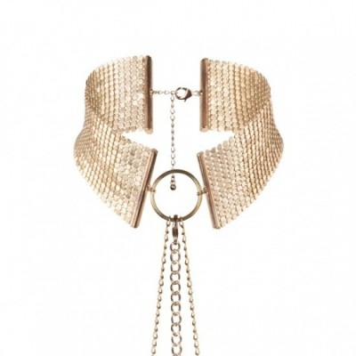 Bijoux Indiscrets Désir METALLIQUE - kovový ozdobný obojek - zlatá