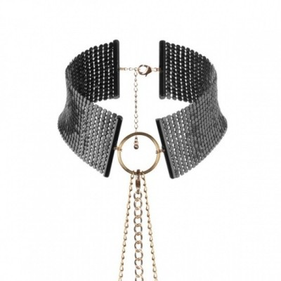 Bijoux Indiscrets Désir METALLIQUE - kovový ozdobný obojek  - černá