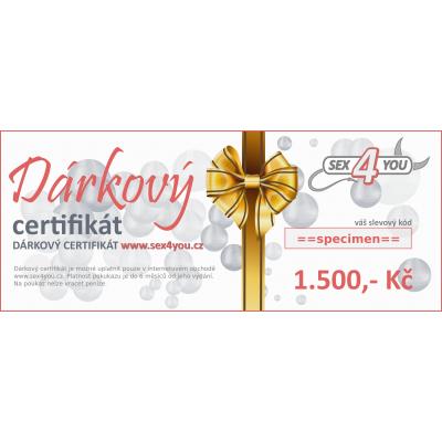 Dárkový certifikát 1.500,- Kč