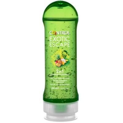 Masážní gel CONTROL 2v1 MASSAGE & PLEASURE EXOTIC 200 ml