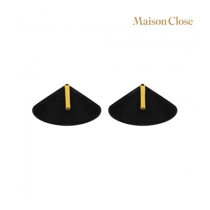 Maison close ozdoby na bradavky fetiches - černá, zlatá