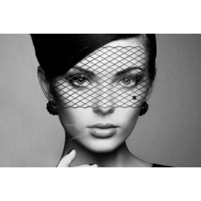 Bijoux Indiscrets maska na obličej - burleskní Lousie - černá