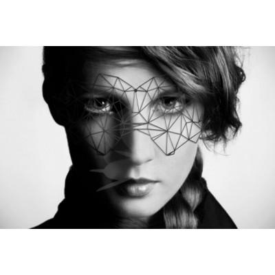 Bijoux Indiscrets maska na obličej - futuristická Kristine - černá