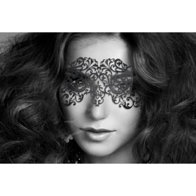 Bijoux Indiscrets maska na obličej - rafinovaná Dalila - černá