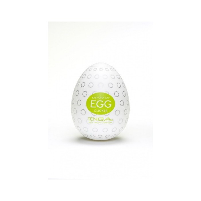 Pánský masturbátor vajíčko Tenga Egg Clicker - uvnitř bílá, obal zelená