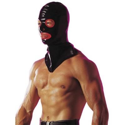 Maska černo-červená LATEXOVÁ