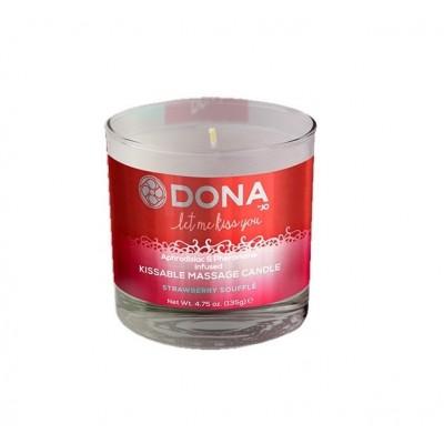 Svíčka masážní DONA KISSABLE MASSAGE CANDLE strawberry