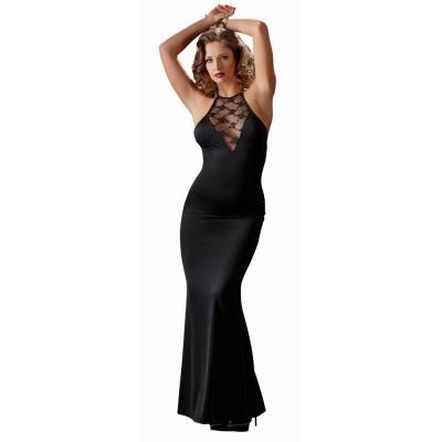 Šaty LONG LACE DRESS černé