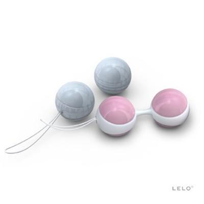 Luna mini - luxusní venušiny kuličky Lelo - růžová / modrá