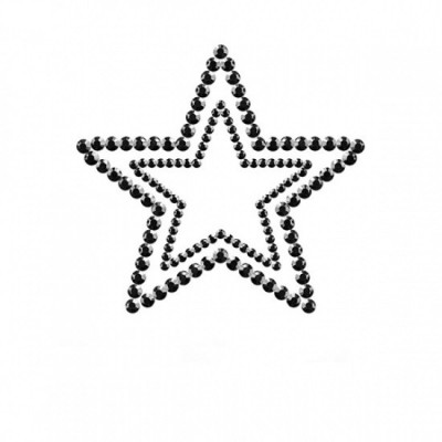 Bijoux Indiscrets Mimi Star - ozdoby na bradavky - černá