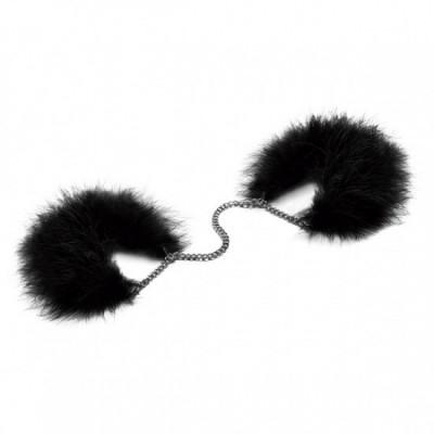 Bijoux Indiscrets Za za zu - péřová pouta - černá