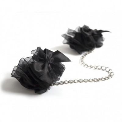 Bijoux Indiscrets Frou Frou - hedvábná pouta - černá