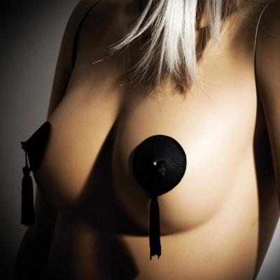 Bijoux Indiscrets Burlesque pasties - ozdoby na bradavky - černá