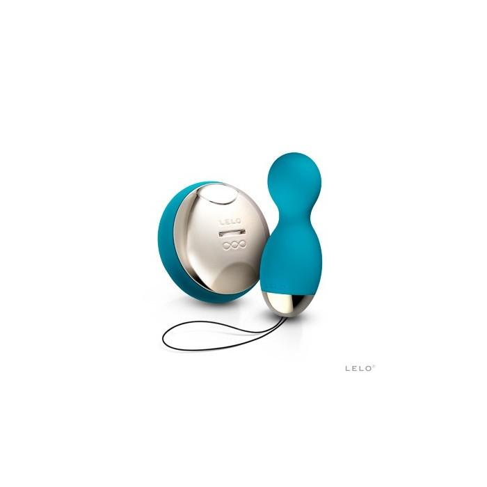 Hula - luxusní vibrátor na dálkové ovládání z kolekce Lelo Insignia SenseMotion - tyrkysově modrá
