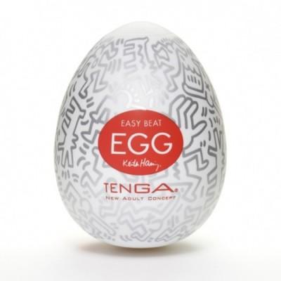 Pánský masturbátor vajíčko Tenga Egg Party - uvnitř čirá, obal barevný