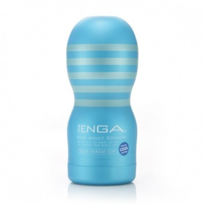 Tenga Deep Throat CUP Cool edition - modrá