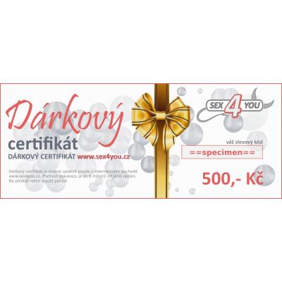 Dárkový certifikát 500,- Kč